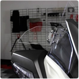 Show Chrome Clear Adjustable Above Mirror Wind Deflectors for the Can-Am Spyder RT (Pair)