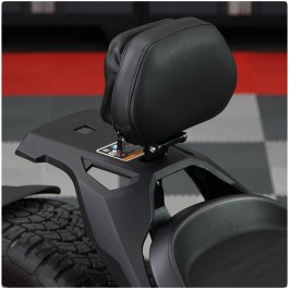 Show Chrome 1-Up Adjustable Padded Driver Backrest with Storage Pouch for the Can-Am Ryker