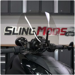 Show Chrome Adjustable Lightly Tinted Windshield for the Can-Am Ryker