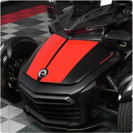 SpyderFX Precut LeMans Dual Racing Stripe Vinyl Decal Kit for the Can-Am Spyder F3 (2 Pieces)