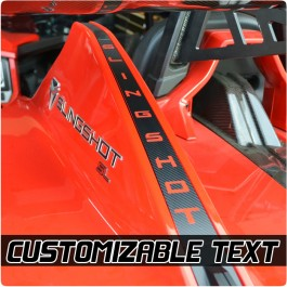 Slingfx Precut 3rd Brake Light Vinyl Decal with Custom Text Field for the Polaris Slingshot
