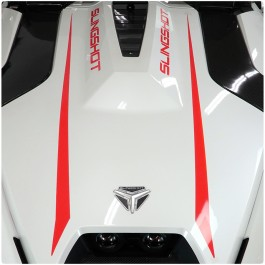 Slingfx Precut R Series Hood Stripes with Customizable Text Field for the Polaris Slingshot (4 Piece Kit)
