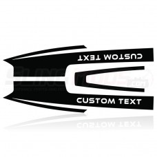 Slingfx Precut Vinyl Hood Decals with Custom Text Field for the Polaris Slingshot
