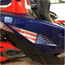 Slingfx Precut Vinyl USA Stars & Stripes Side Decal Kit for the Polaris Slingshot (Set of 2)