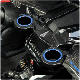 TufSkinz Colored Trim Rings for the Slinglines Dash Mounted Cup Holders for the Polaris Slingshot (Pair) (2015-19)
