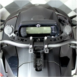 12V Cell Phone / GPS Docking Station with Dual USB Charge Ports for the Can-Am Ryker