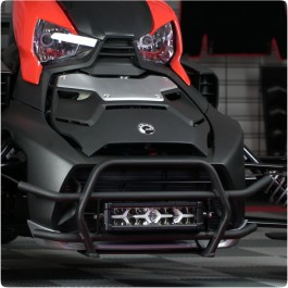 Front Grille Guard with Optional LED Light Bar for the Can-Am Ryker