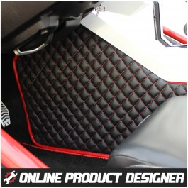 Status Custom Upholstered Transmission Tunnel Covers for the Polaris Slingshot (Pair) (2015-19)