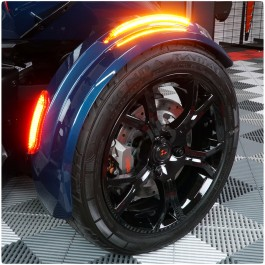 Front Fender Reflectors with Sequential LED Turn Signals & Running Lights for the Can-Am Spyder F3 & RT (2019+)
