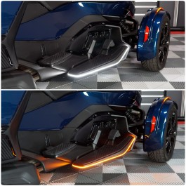 TricLED Floorboard Dual Color LED Running Lights with Turn Signal Integration for the Can-Am Spyder RT (Set of 2) (2020+)