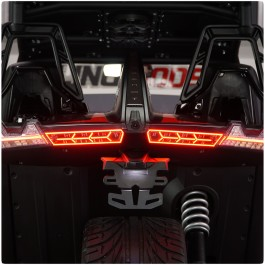 Afterburner Tail Lights with Integrated Running, Brake & Sequential Turn Signals for the Polaris Slingshot (Pair) (2015-20)