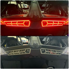 TricLED Afterburner Tail Lights with Integrated Running, Brake & Sequential Turn Signals for the Polaris Slingshot (Pair)