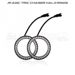 TricLED Plug N' Play Magic Tric Chaser Add-on Halo Ring Set for the Polaris Slingshot (Pair)