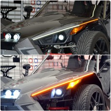 TricLED EyeBladez LED Dual Color Running Light w/ Blinker Module for the Polaris Slingshot (Pair)
