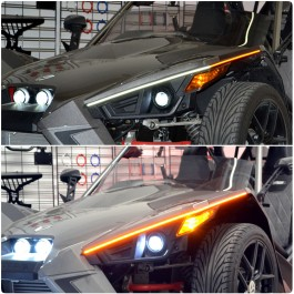 TricLED EyeBladez LED Dual Color Running Light w/ Blinker Module for the Polaris Slingshot (Pair)