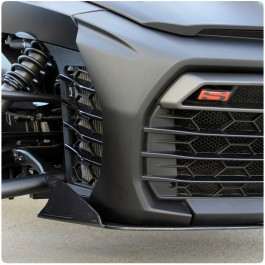 TricLED Carbon Fiber Front Splitter with Canards for the Can-Am Spyder F3 (2 Pieces)