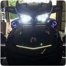 TricLED LED Headlight Conversion Kit with RGB Control for the Can-Am Spyder F3 (Pair)