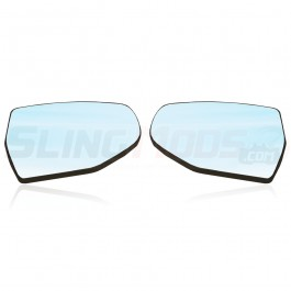 Peel & Stick Wide-Vu Convex Side View Mirrors for the Can-Am Spyder F3T / F3L / ST (Pair)