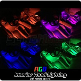 TricLED Full Interior RGB Mood Lighting Kit with Remote for the Polaris Slingshot (4 Piece Kit)