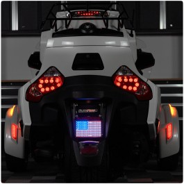"4"" x 6"" LED American Flag Kit for the Can-Am Spyder RT (2010-19)"