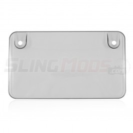 Lightly Tinted Motorcycle License Plate Cover