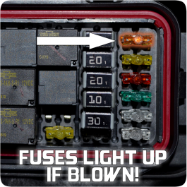 16 Piece Mini LED Illuminated Replacement Fuses for the Polaris Slingshot Fuse Box