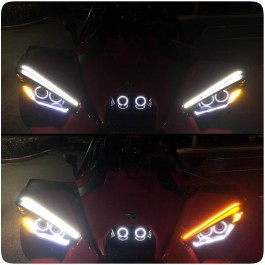 TricLED Upper Brow LED Dual Color Switchbacks w/ Blinker Module for the Polaris Slingshot