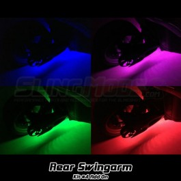 Kit #4 RGB LED Swingarm Underglow Add-on for the Polaris Slingshot