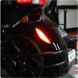 TricLED Rear Fender Triangular LED Safety Reflectors for the Can-Am Spyder F3 / F3S