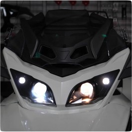 LED HD Elite Headlight Conversion Kit for the Can-Am Spyder RT (Pair)
