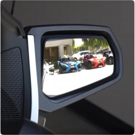 Peel & Stick Wide-Vu Convex Side View Mirrors for the Can-Am Spyder RT (2010-19) (Pair)