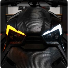 Plug N' Play LED Replacement Headlight Assembly with DRL & Turn Signal Integration for the Can-Am Ryker (Set of 2)