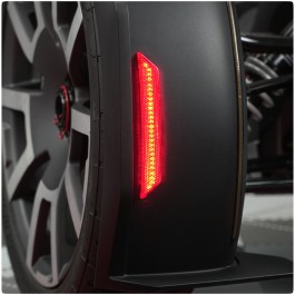 "Front Fender Red ""Add On"" Reflectors with LED Turn Signals & Running Lights for the Can-Am Ryker"