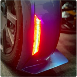 "Front Fender Red ""Add On"" Reflectors with Sequential LED Turn Signals & Running Lights for the Can-Am Ryker"