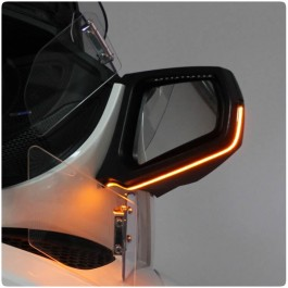 SideViz LED Side View Mirror Amber Running Light / Turn Signals for the Can-Am Spyder RT (Pair) (2010-19)