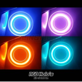 Kit #5 Standard RGB LED Halo Ring Underglow Add-on Kit for the Polaris Slingshot (2015-19)