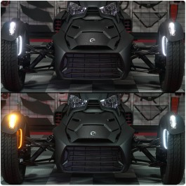 TricLED Dual Color LED Front Fender Vertical Running Light Strips with Blinker for the Can-Am Ryker (2 Pieces) (Gen 2)