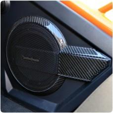 TufSkinz Peel & Stick Interior Speaker Pod Trim Kit for the Polaris Slingshot (8 Pieces) (2017-18)