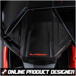 Tufskinz Dashboard Cover with Optional Text Field for the Polaris Slingshot (14 Piece Kit) (2020+)
