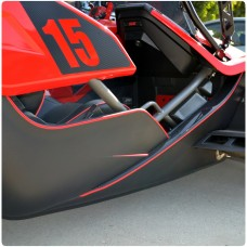 TufSkinz Peel & Stick Side Panel Body Lines Accent Kit for the Polaris Slingshot (8 Pieces)