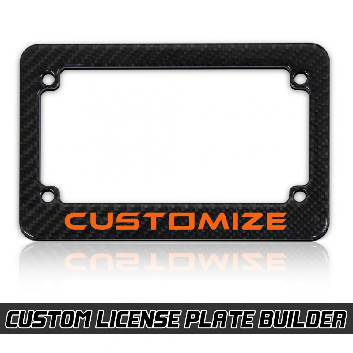 Personalized Motorcycle License Plate Frame Designer with ...