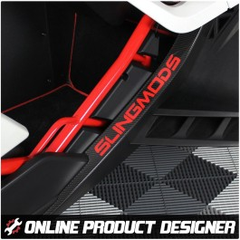 Personalized Entry Sill Trim with Customizable Color & Text Field for the Polaris Slingshot (Pair)