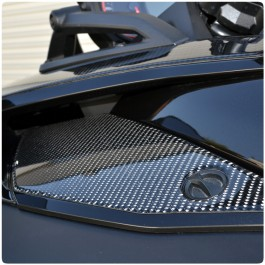 Tufskinz Peel & Stick Front Fairing Access Door Covers Can-Am Spyder F3 (Pair)