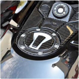 Tufskinz Peel & Stick Gas Cap Cover for the Can-Am Spyder F3 (3 Piece Kit)