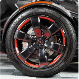Tufskinz Peel & Stick Front Wheel Outer Trim Accent Kit for the Can-Am Spyder F3 / F3S / F3T (12 Piece Kit)