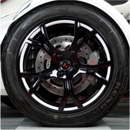 Tufskinz Peel & Stick Wheel Trim Kit for the Can-Am Spyder F3 Limited / RT Limited (15 Piece Kit) (2019+)