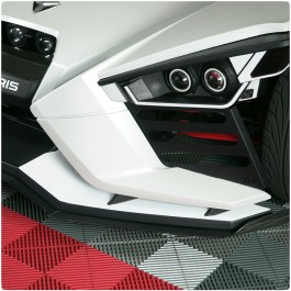 TufSkinz Peel & Stick Front Splitter Outer Accent Kit for the Polaris Slingshot (2 Piece Kit)