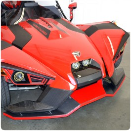 TufSkinz Peel & Stick Front Splitter Center Accent Kit for the Polaris Slingshot