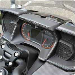 Tufskinz Peel & Stick Gauge Cluster Trim Kit for the Can-Am Spyder F3T / F3L (5 Piece Kit)