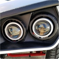TufSkinz Peel & Stick Headlight Accent Rings for the Polaris Slingshot (6 Pieces)
